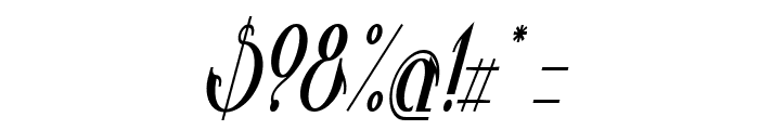 Valkyrie Bold Condensed Italic Font OTHER CHARS