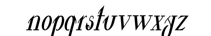 Valkyrie Bold Condensed Italic Font LOWERCASE