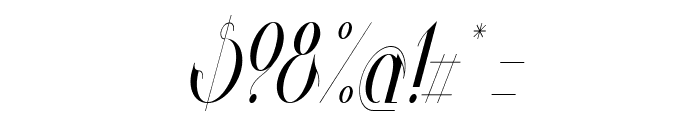Valkyrie Condensed Italic Font OTHER CHARS