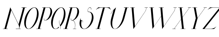 Valkyrie Condensed Italic Font UPPERCASE