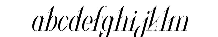 Valkyrie Condensed Italic Font LOWERCASE