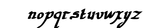 Valley Forge Bold Italic Font LOWERCASE