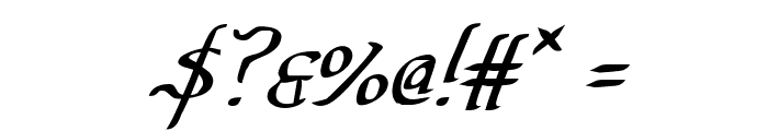 Valley Forge Italic Font OTHER CHARS