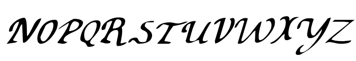 Valley Forge Italic Font UPPERCASE