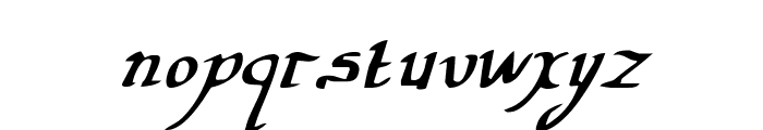Valley Forge Italic Font LOWERCASE