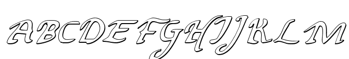 Valley Forge Outline Italic Font UPPERCASE