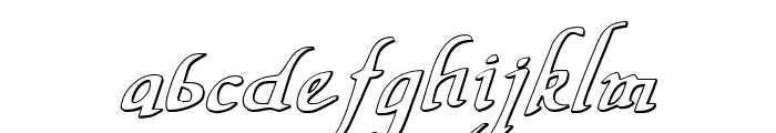 Valley Forge Outline Italic Font LOWERCASE