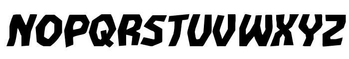 Vampire Bride Expanded Italic Font UPPERCASE