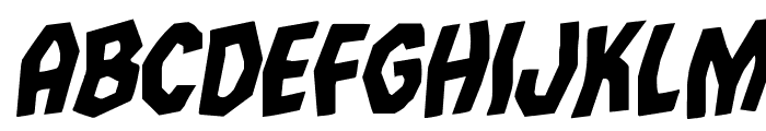 Vampire Bride Rotalic Font UPPERCASE