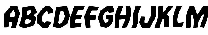 Vampire Bride Staggered Italic Font UPPERCASE