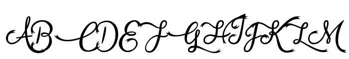 Vampire Calligraphy Font UPPERCASE