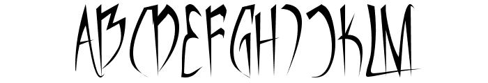 Vampiress Font UPPERCASE