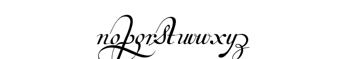 Van den Velde Script Font LOWERCASE
