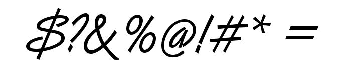Vanberg Font OTHER CHARS