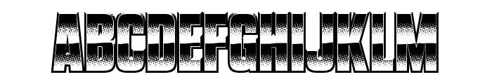 VanchromeClear-Regular Font UPPERCASE