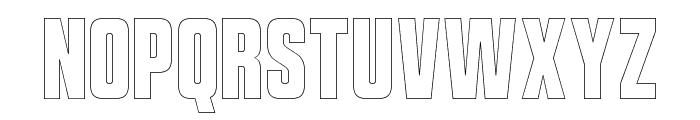 VanchromeEdge-Regular Font UPPERCASE