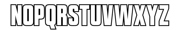 VanchromeOutline-Regular Font UPPERCASE