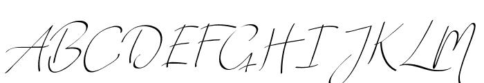 Vanilla Personal Light Font UPPERCASE