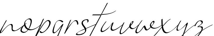 Vanilla Personal Light Font LOWERCASE