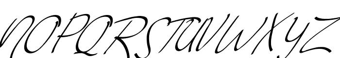 Vanilla Personal Slant Font UPPERCASE