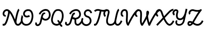 Vanillate Font UPPERCASE