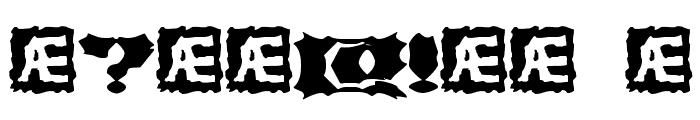 Vanished BRK Font OTHER CHARS