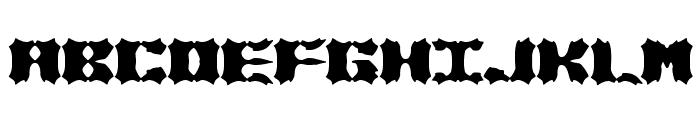 Vanished BRK Font UPPERCASE