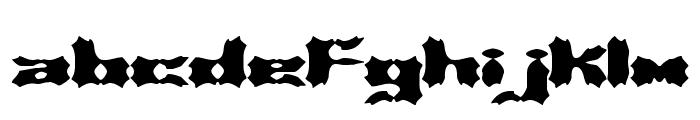 Vanished BRK Font LOWERCASE
