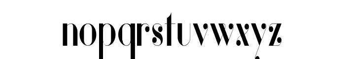 Vanity Bold Narrow Font LOWERCASE