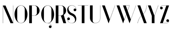 Vanity-Bold Font UPPERCASE