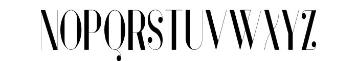 Vanity-BoldNarrow Font UPPERCASE
