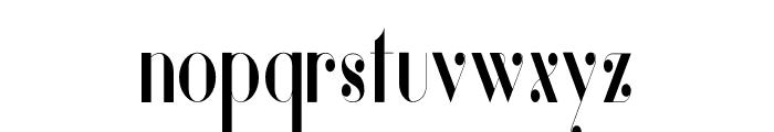 Vanity-BoldNarrow Font LOWERCASE