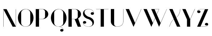 Vanity-BoldWide Font UPPERCASE