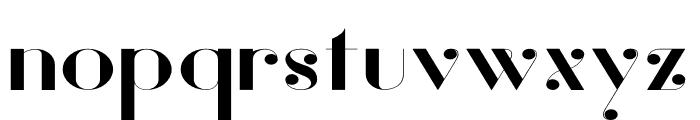 Vanity-BoldWide Font LOWERCASE