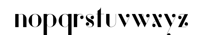 Vanity-Bold Font LOWERCASE