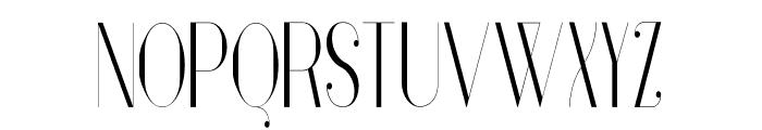 Vanity-LightNarrow Font UPPERCASE