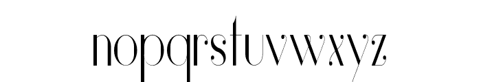 Vanity-LightNarrow Font LOWERCASE