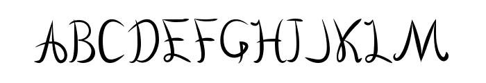 Vanlose Handwritten Font UPPERCASE