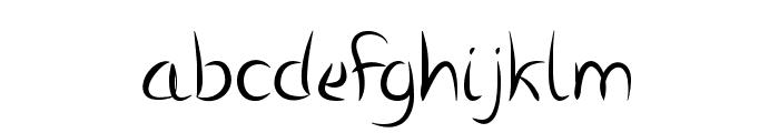 Vanlose Handwritten Font LOWERCASE