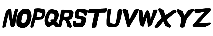 Vapor Black Oblique Font UPPERCASE