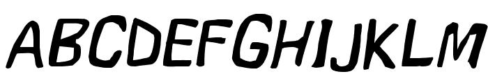 Vapor Oblique Font UPPERCASE