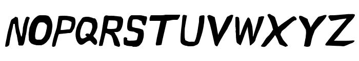 Vapor Semibold Oblique Font UPPERCASE
