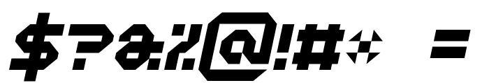 Vaporbyte Italic Font OTHER CHARS