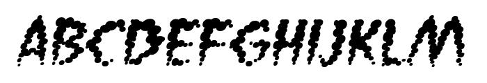 Vaporized BB Italic Font LOWERCASE