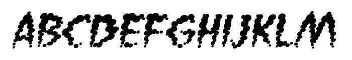VaporizedBB-Italic Font LOWERCASE