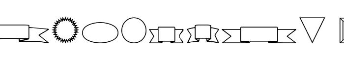 VariShapes Font OTHER CHARS