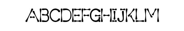 Variant 4 GeM Font UPPERCASE