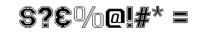 Varsity Regular Font OTHER CHARS