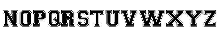 Varsity Regular Font UPPERCASE