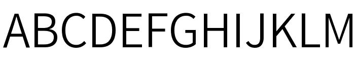 Varta Light Font UPPERCASE
